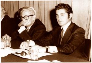 Con Nahum Goldman, Presiente Congreso Judío Mundial, 1970.