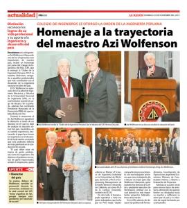 Diario La Razón - Lima-Perú - 23-11-14