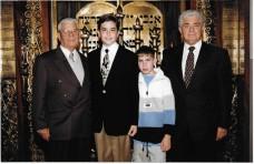 con papá, Jimmy y Michael