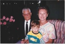 Papá Samuel, esposa Becky e hijo Michael, Miami 1993